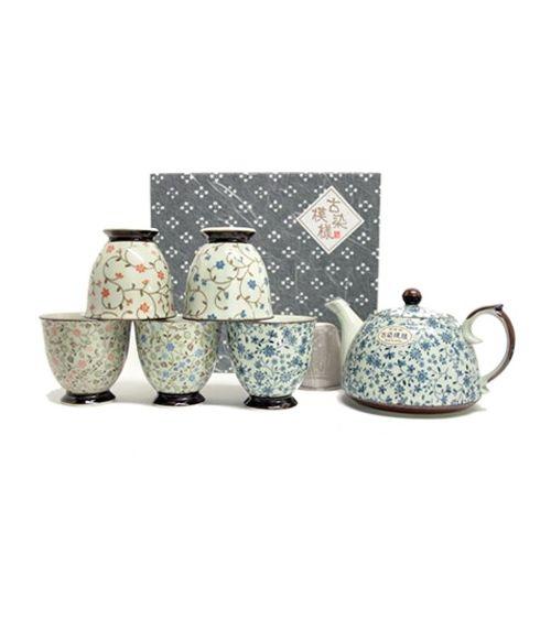 Service à thé ASUNA Théière et cinq tasses