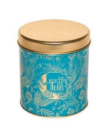 LARGE BLUE TEA BOX LA ROUTE DU THÉ