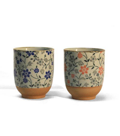 COFFRET DEUX TASSES – WHITE & FLOWERS